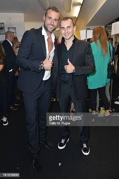 Philipp Plein and Jorge Lorenzo attends the Philipp Plein Event Milan Fashion Week Womenswear Spring/Summer 2014 at Piazza Vetra on September 21 2013...