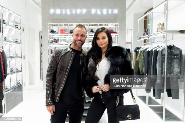 Philipp Plein and Justyna Gradek attend the Philipp Plein boutique opening on December 21 2018 in Madrid Spain