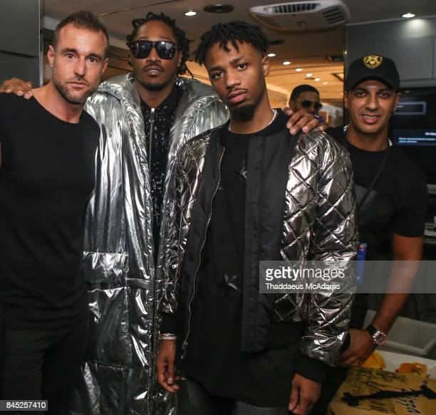 Philipp Plein Futue Metro Boomin and Mani backstage at the Philipp Plein S/S 18 show at Hammerstein Ballroom on September 9 2017 in New York City