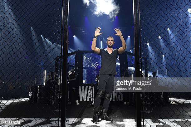 Philipp Plein on the runway after his Show as a part of Milan Menswear Fashion Week Fall Winter 2015/2016 on January 17 2015 in Milan Italy