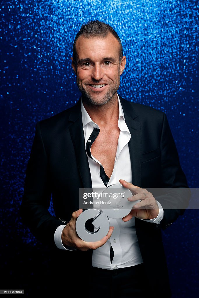 Philipp Plein poses backstage at the GQ Men of the year Award 2016 (german: GQ Maenner des Jahres 2016) at Komische Oper on November 10, 2016 in Berlin, Germany.