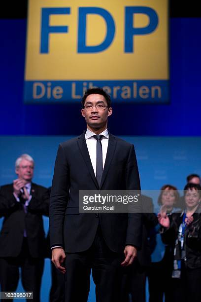 Philipp Roesler German Economy Minister and Chairman of the German Free Democrats political party after his speach to delegates at the FDP federal...