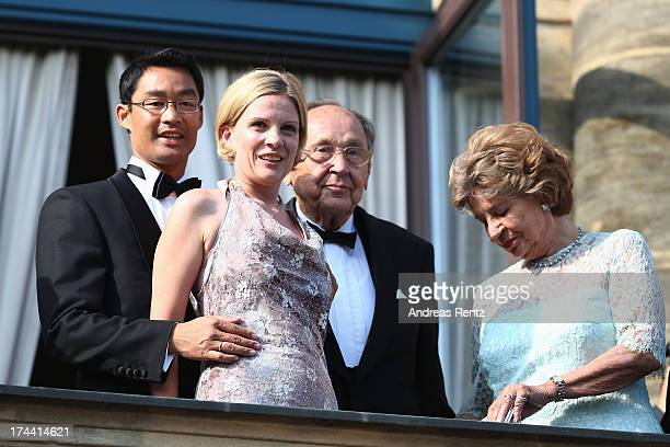 Philipp Roesler Vice Chancellor and Chairman of the German Free Democrats and his wife Wiebke HansDietrich Genscher and his wife Barbara attend the...