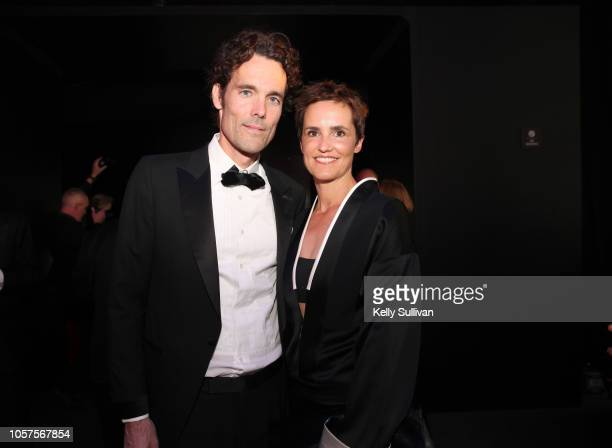 Philipp Schindler and Andrea Willms attend the 2019 Breakthrough Prize at NASA Ames Research Center on November 4 2018 in Mountain View California