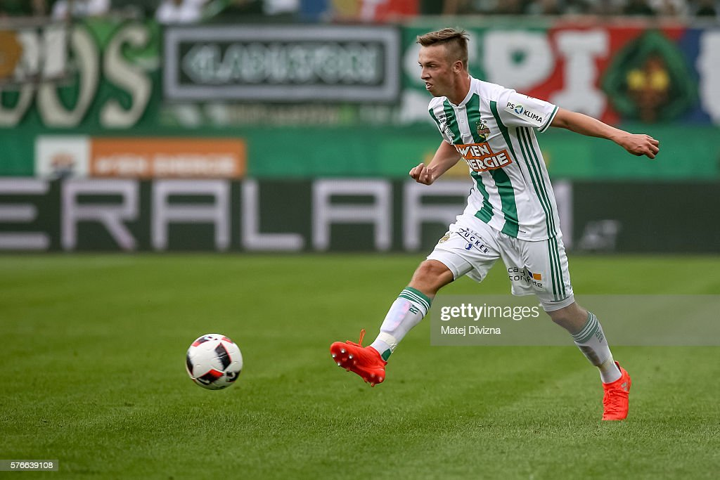 Philipp Schobesberger of Rapid in action during an friendly match between SK Rapid Vienna and Chelsea F.C. at Allianz Stadion on July 16, 2016 in Vienna, Austria.