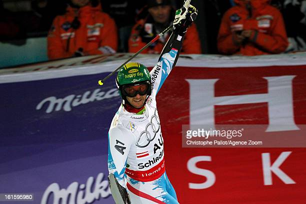 Philipp Schoerghofer of Austria competes during the Audi FIS Alpine Ski World Championships Nation's Team Event on February 12 2013 in Schladming...