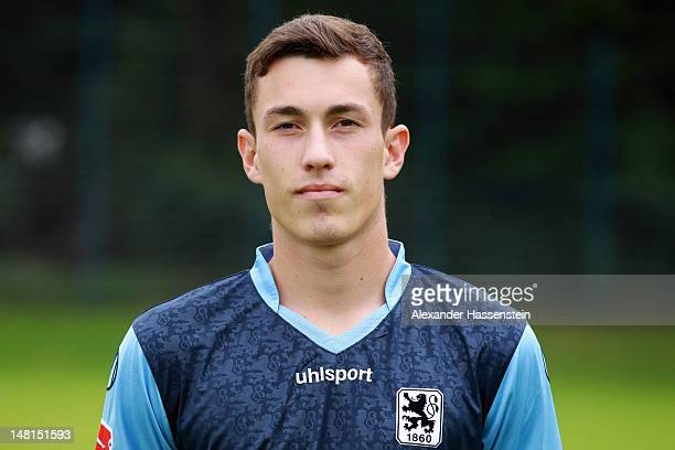 Philipp Steinhart of 1860 Muenchen poses during the Second Bundesliga team presentation of TSV 1860 Muenchen on July 11 2012 in Munich Germany