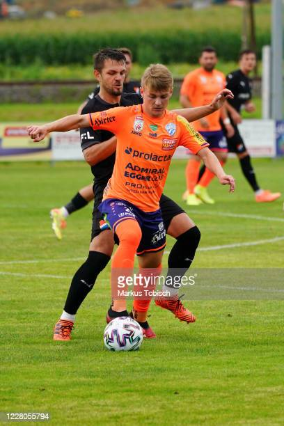 Philipp Sturm of Hartberg during the Friendly match between TSV prolactal Hartberg and FC Banik Ostrava at RM-Stadion on August 15, 2020 in St.Johann...