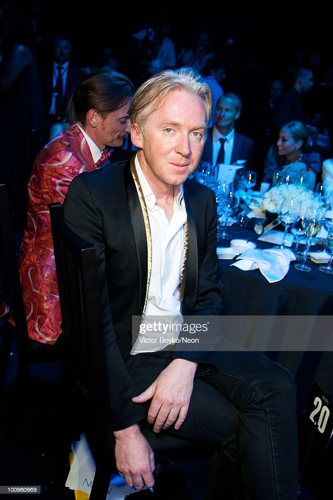 Philipp Treacy attends the NEON Charity Gala in aid of the IRIS Foundation on May 24, 2010 in Moscow, Russia.