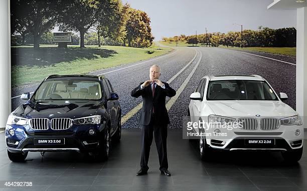 Philipp von Sahr President BMW Group India at the launch of the allnew BMW X3 at Deutsche Motoren at Sector 63 on August 28 2014 in Noida India The...