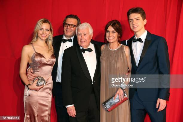 Philipp Weck son of Peter Weck and his girlfriend Yulia Peter Weck and his daughter Barbara Weck and his grandson Timon during the 8th Filmball...