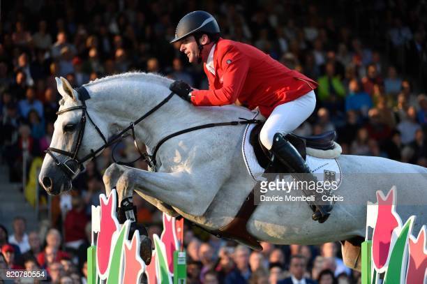 Philipp Weishaupt of Germany riding LB Convall during CHIO MercedesBenz Nations Cup on July 20 2017 in Aachen Germany