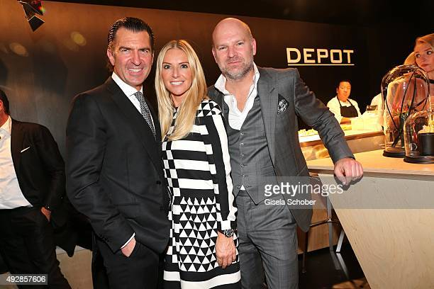 Philipp Welte Sandra Gries and Christian Gries CEO Depot during the Tribute to Bambi 2015 after show party at Station on October 15 2015 in Berlin...