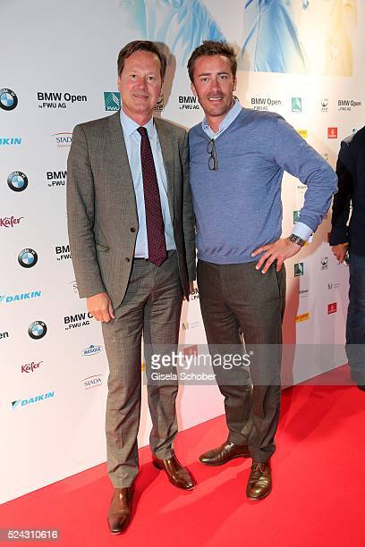 Philipp Wolff and Georg von Waldenfels during the Players Night of the BMW Open 2016 tennis tournament at Iphitos tennis club on April 25 on April 25...