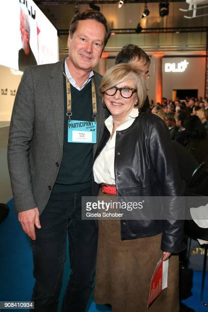 Philipp Wolff Steffi Czerny during the DLD Impact Award by DLD Munich 2018 at Alte Bayerische Staatsbank on January 21 2018 in Munich Germany The DLD...