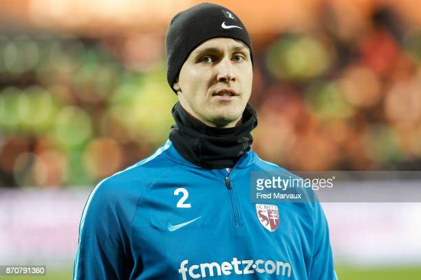 Philipp Wollscheid of Metz during the Ligue 1 match between Metz and Lille OSC at on November 5 2017 in Metz
