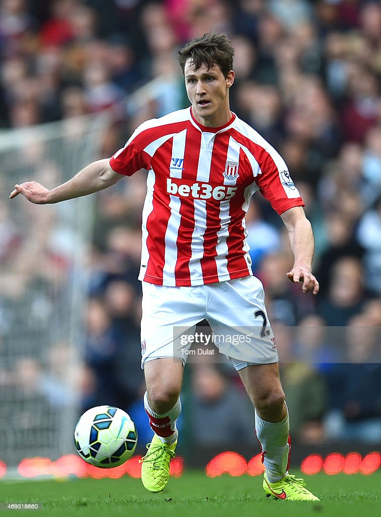 Philipp Wollscheid of Stoke City in action during the Barclays Premier League match between West Ham United and Stoke City at Boleyn Ground on April 11, 2015 in London, England.