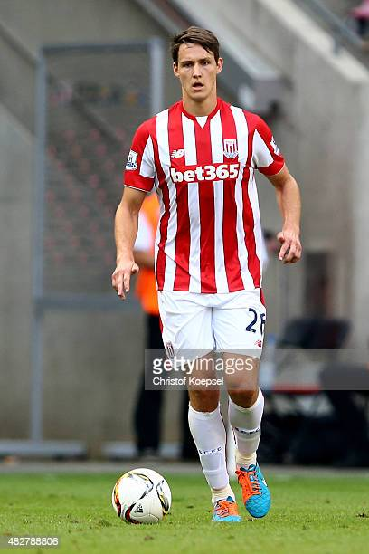 Philipp Wollscheid of Stoke City runs with the ball during the Colonia Cup 2015 match between FC Porto and Stoke City FC at RheinEnergieStadion on...