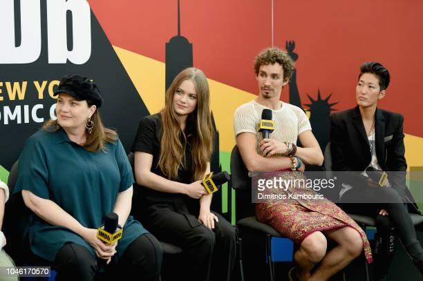 Philippa Boyens Hera Hilmar Robert Sheehan and Jihae of 'Mortal Engines' attend IMDb at New York Comic Con Day 1 at Javits Center on October 5 2018...