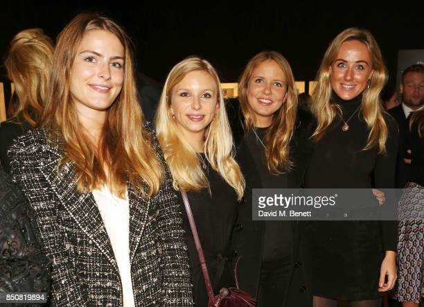 Philippa Cadogan Sophie Broughton Arabella Holland and Jemima Cadbury attend the opening reception for 'Audrey Hepburn The Personal Collection' at...