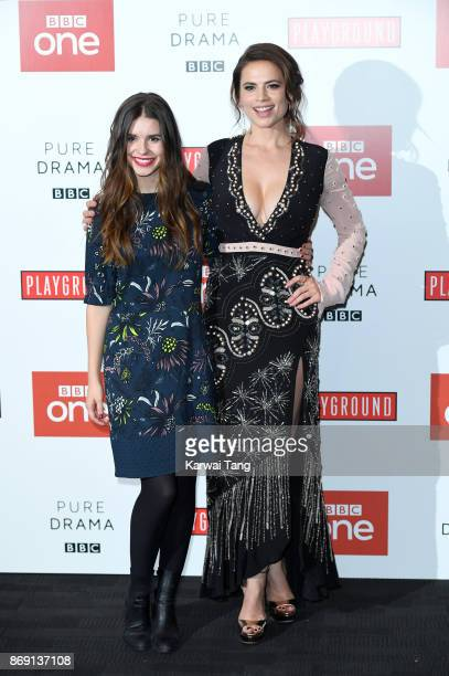 Philippa Coulthard and Hayley Atwell attend the 'Howards End' photocall at BFI Southbank on November 1 2017 in London England