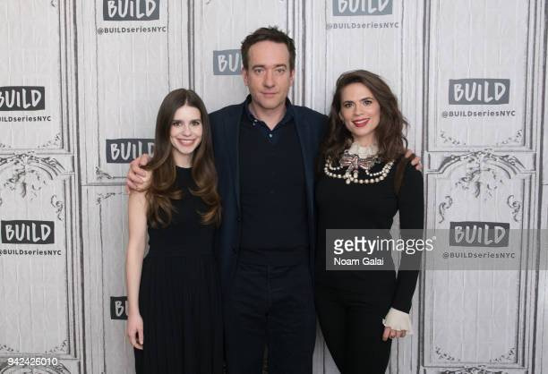 Philippa Coulthard Matthew Macfadyen and Hayley Atwell visit Build Series to discuss Howards End at Build Studio on April 5 2018 in New York City