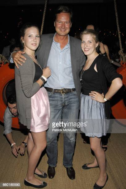 Philippa Haupt Philipp Wolff and Victoria Haupt attend BOSS ORANGE New Direction Party at 601 West 26th street on July 23 2009 in New York City
