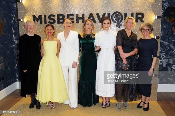 Philippa Lowthorpe Gugu MbathaRaw Keeley Hawes Rebecca Frayn Keira Knightley Suzanne Mackie and Gaby Chiappe attend the World Premiere of...