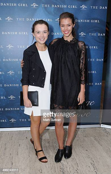 Philippa Northeast and Pearl Herbert arrive ahead of a preview screening of The Danish Girl at Art Gallery Of NSW on November 30 2015 in Sydney...