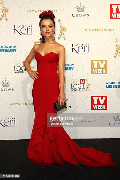 Philippa Northeast arrives at the 58th Annual Logie Awards at Crown Palladium on May 8 2016 in Melbourne Australia