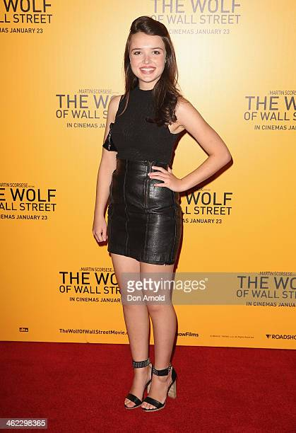 Philippa Northeast arrives at 'The Wolf Of Wall Street' Sydney Premiere at The Entertainment Quarter on January 13 2014 in Sydney Australia