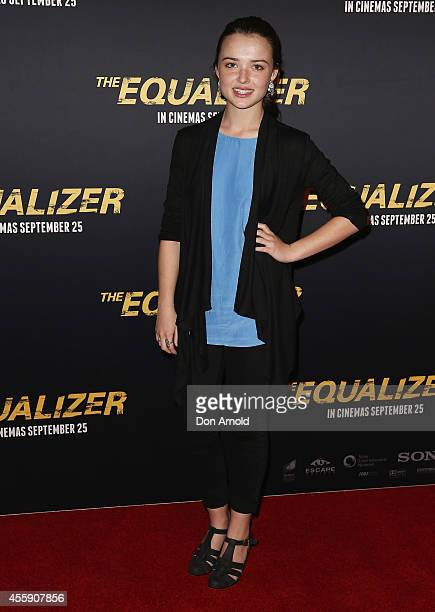 "Philippa Northeast poses on the red carpet at ""The Equalizer"" Sydney Premiere at Event Cinemas George Street onSeptember 22, 2014 in Sydney,..."
