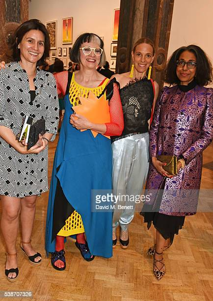 Philippa Perry and Tiphaine de Lussy attend a VIP preview of the Royal Academy of Arts Summer Exhibition 2016 on June 7, 2016 in London, England.