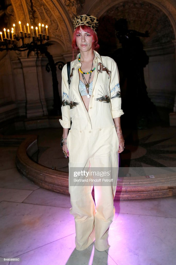 Philippa Price attends the Stella McCartney show as part of the Paris Fashion Week Womenswear Fall/Winter 2017/2018 on March 6, 2017 in Paris, France.