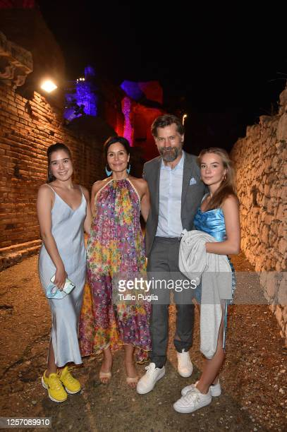 Philippa Waldau Nukaaka CosterWaldau Nikolaj CosterWaldau and Safina Waldau attend the red carpet of the closing night of the Taormina Film Festival...