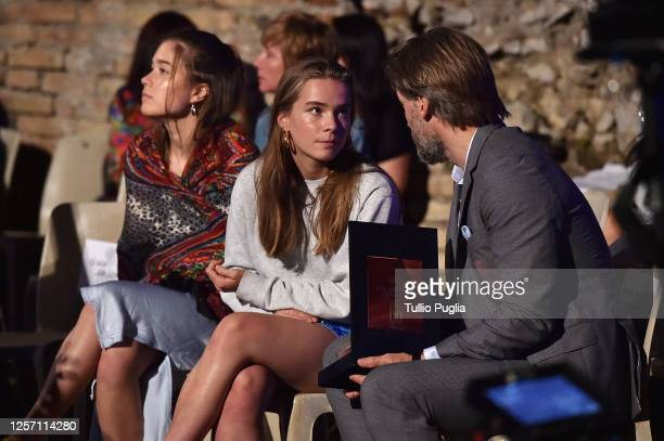 Philippa Waldau Safina Waldau and Nikolaj CosterWaldau attend the closing night of the Taormina Film Festival on July 19 2020 in Taormina Italy