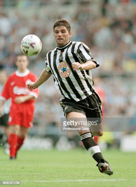 Philippe Albert of Newcastle United in action during the FA Carling Premiership match between Newcastle United and Liverpool at St James' Park on...