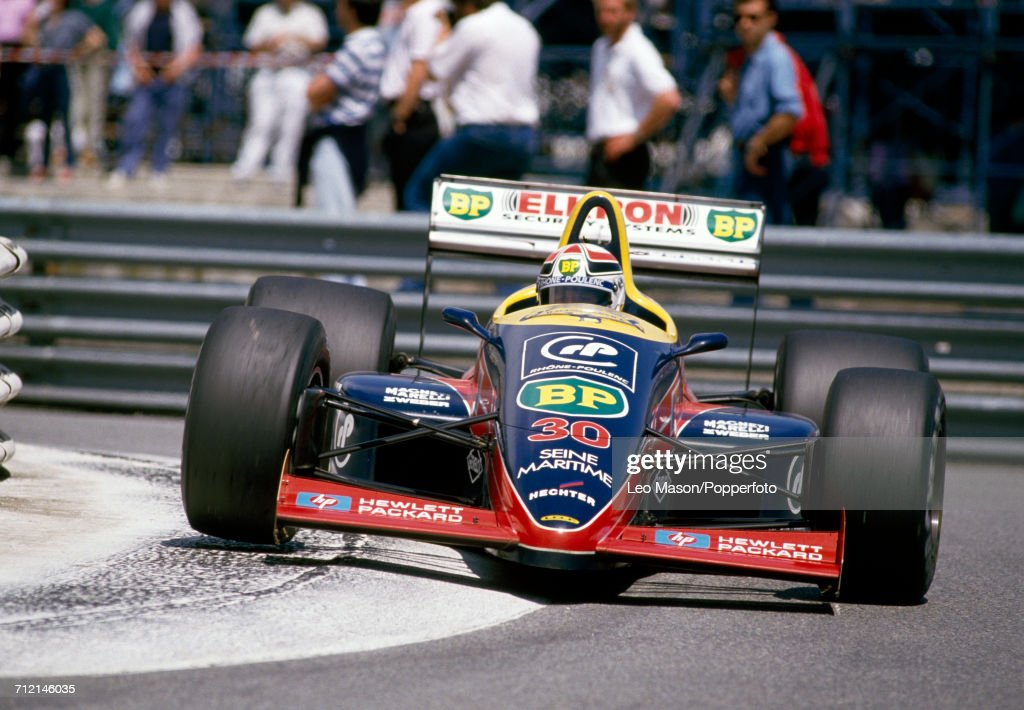 Philippe Alliot of France in action, driving a #30 Lola LC88 with a Cosworth V8 engine for Team Larrousse Calmels, during the Monaco Grand Prix in Monte Carlo on 15th May 1988. Alliot would go on to retire from the race during the 50th lap following a collision.