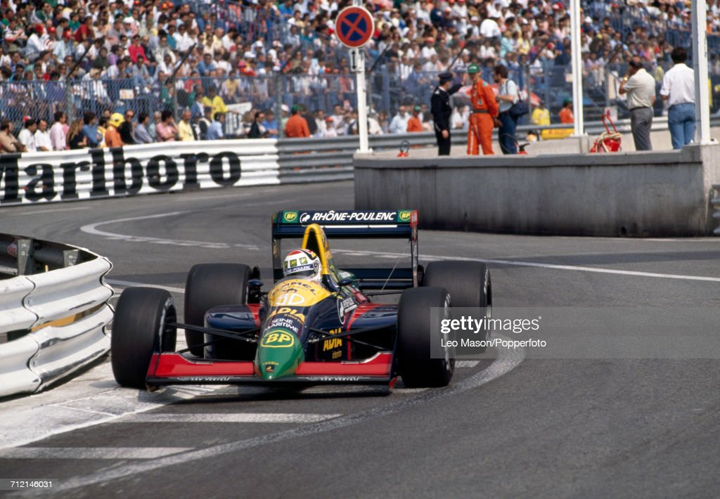 Philippe Alliot of France in action, driving a #30 Lola LC89 with a Lamborghini V12 engine for Team Equipe Larrousse, during the Monaco Grand Prix on 7th May 1989. Alliot would go on to retire from the race during the 38th lap with engine problems.