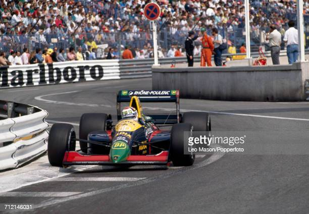 Philippe Alliot of France in action driving a Lola LC89 with a Lamborghini V12 engine for Team Equipe Larrousse during the Monaco Grand Prix on 7th...