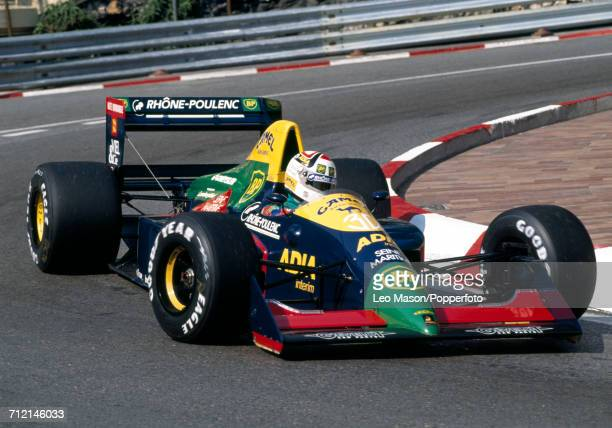 Philippe Alliot of France in action, driving a Lola LC89 with a Lamborghini V12 engine for Team Equipe Larrousse, during the Monaco Grand Prix on 7th...