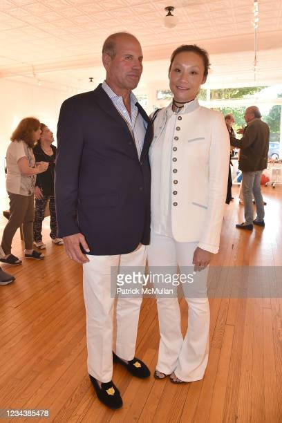 """Philippe Bigar and Gigi Tang attend the release of Christophe von Hohenberg's new book """"The White Album of The Hamptons"""" and Bruce Helander's..."""