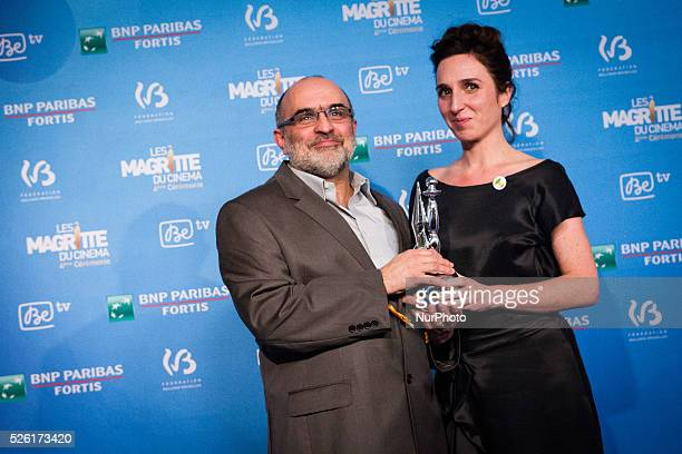 Philippe Blasband and Anne Paulicevitch best scenario at the 4th Ceremony of the Magritte celebrating the best of the belgian movie industry