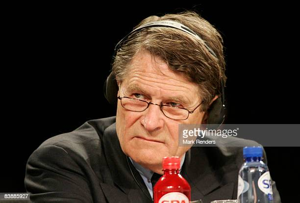 Philippe Bodson of Fortis responds to questions about the future of Fortis at a shareholders meeting to select a new board in Heysel on December 02...