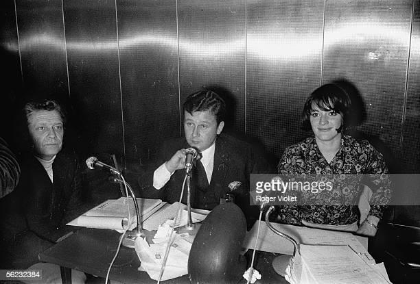 Philippe Bouvard and AnneMarie Peysson hosts of RTL Paris 1964 HA15906