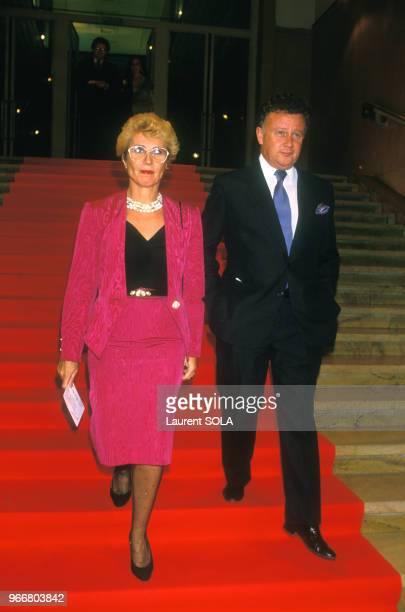 Philippe Bouvard et son épouse Colette à la soirée ParisMatch le 17 novembre 1986 à Paris France