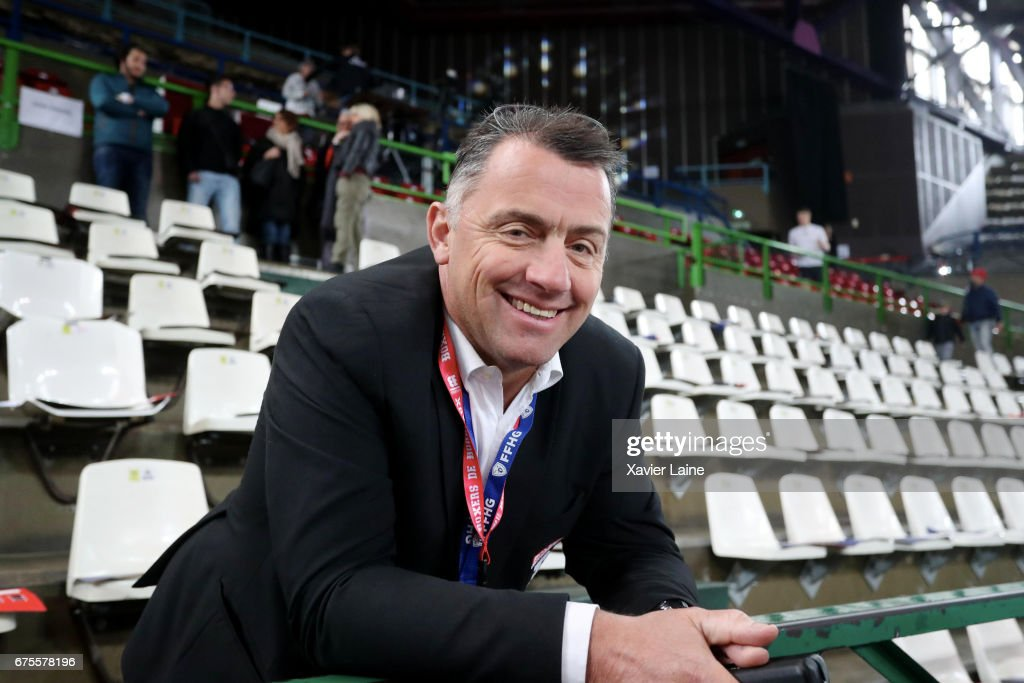 Philippe Bozon attends the Ice Hockey Friendly match between France and Belarus at Patinoire Meriadeck on May 1, 2017 in Bordeaux, France.