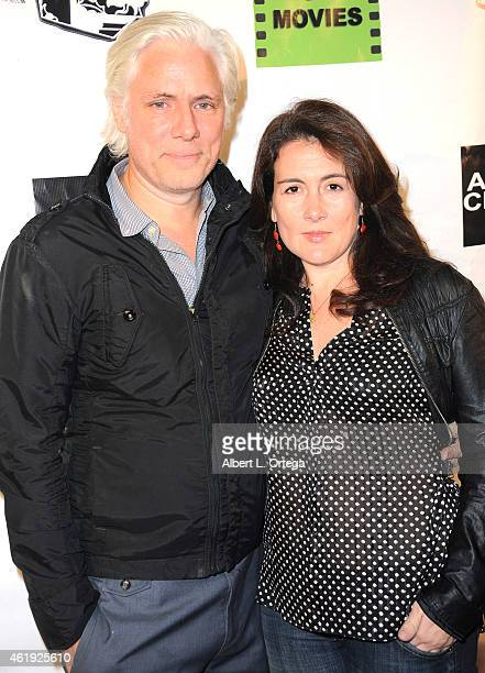 Philippe Brenninkmeyer and Tara Lynn Orr arrive for the Screening Of Pretty Rosebud held at Arena Cinema Hollywood on January 16 2015 in Hollywood...