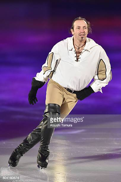 Philippe Canceloro of France performs his routine during the NHK Special Figure Skating Exhibition at the Morioka Ice Arena on January 9, 2016 in...