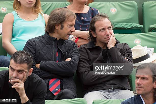 Philippe Candeloro and guest attend the Roland Garros French open at Roland Garros on June 1 2015 in Paris France
